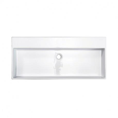 Wastafelmeubel Sanitrend 100x45 cm zonder kraangat met overloop wit 1.16794.2