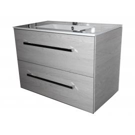 Wastafel Nemi 81x46 cm met meubel 2 laden eiken VF-2663-36
