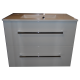 Wastafel Ector 80x48,5 cm met meubel 2 laden wit hoogglans gelakt