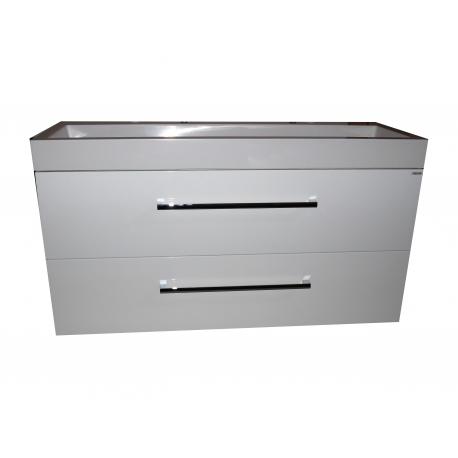 Wastafel Sanitrend 100x45 cm 1.34159.2 met meubel 2 laden wit hoogglans gelakt