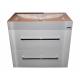 Wastafel Unb Space 80x47 cm Sanp. met meubel 2 laden wit hoogglans gelakt