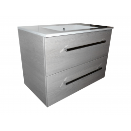 Wastafel Ector 80x48 cm met meubel 2 laden Eiken VF-2663-36