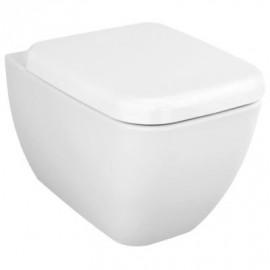 Wandcloset Sanitrend 54 cm spoelrandloos met softclose zitting wit 2.94284.6