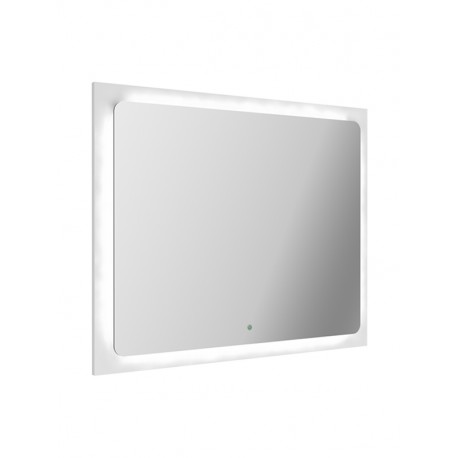 Spiegel 80x65 cm MLLU80NT met LED verlichting, hoogglans gelakt