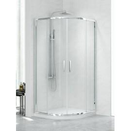 Douchecabine 90x90x190 cm grafiet glas BG New Praktic K0303NT