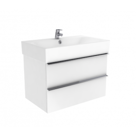 Badkamermeubel 75x45 cm Kubiko wit hoogglans gelakt