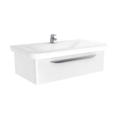 Wastafel met meubel Sfero 96x55 cm wit hoogglans gelakt