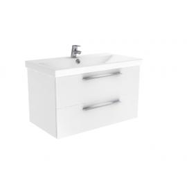 Badkamermeubel 80x45 cm Notti wit hoogglans gelakt
