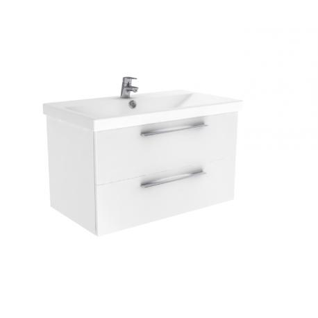 Wastafel met meubel Notti 80x45 cm wit hoogglans gelakt