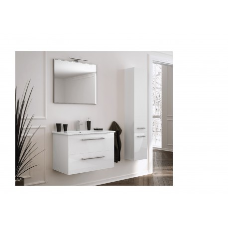 Wastafel met meubel Fargo 75x45 cm wit hoogglans gelakt