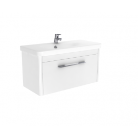 Badkamermeubel 80x37 cm Vito wit hoogglans gelakt