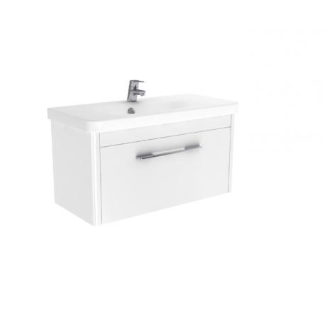 Wastafel met meubel Vito 80x37 cm wit hoogglans gelakt