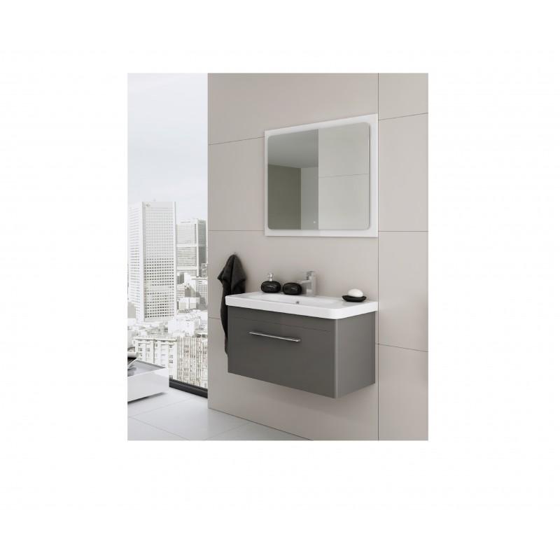 badkamermeubel 80x37 cm vito grafiet hoogglans gelakt