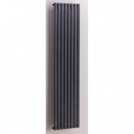Designradiator 150x47 cm Rene grafiet structuur
