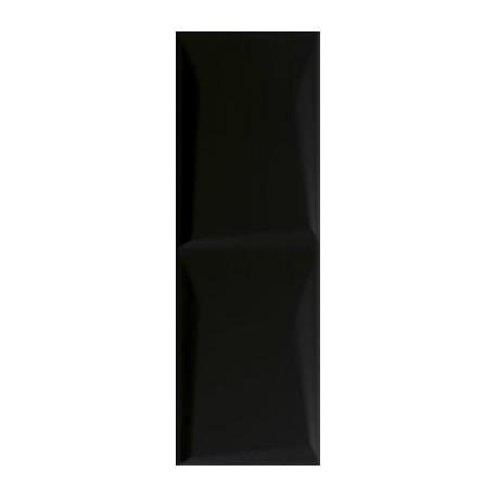 Wandtegels 20x60 cm Maloli zwart structuur B glans