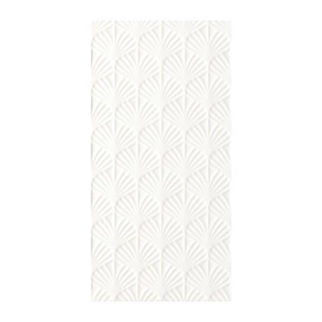 Wandtegels 30x60 cm Adilio Wit Structuur Fan mat