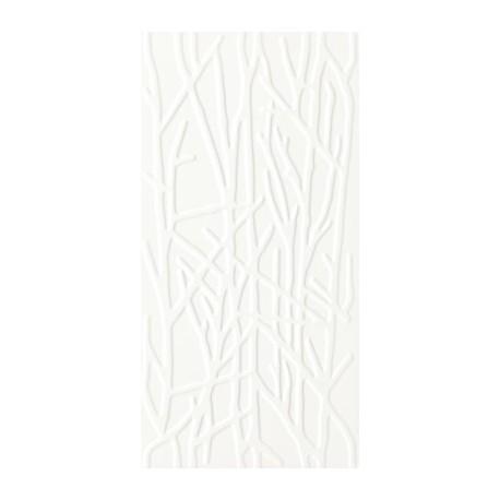 Wandtegels 30x60 cm Adilio Wit Structuur Tree mat
