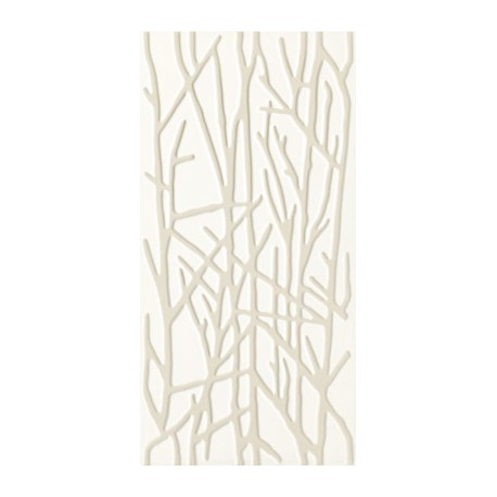 Wandtegels 30x60 cm Adilio Wit Structuur Tree Decor mat