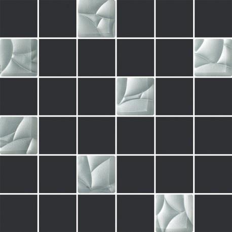 Mozaiek 30x30 cm Esten bianco grafiet