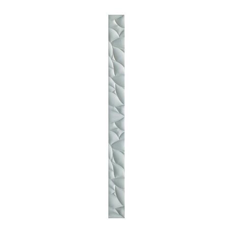 Strook 5x60 cm Esten Zilver glas decortegels