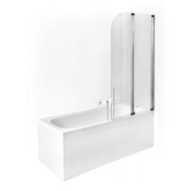 Badscherm 80,5x140 cm 2-delig BG-60 inklapbaar
