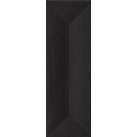Wandtegels 10x30 cm Favaro Zwart glans structuur