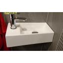 Fontein Sanitrend 40x22 cm wit kraangat links 1513862