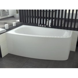 Hoekbad 150x80 cm Links acryl BG-19 asymmetrisch