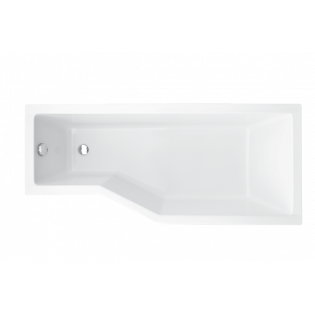 Ligbad 150x75 cm rechts BG-42 asymmetrisch