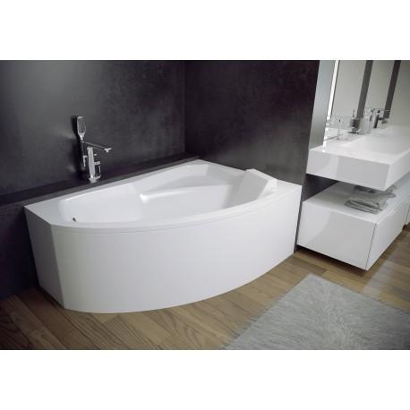 Hoekbad 140x90 cm Rechts acryl BG-106 asymmetrisch