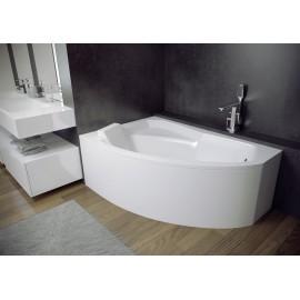 Hoekbad 160x100 cm Links acryl BG-106 asymmetrisch