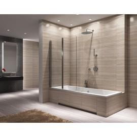 Badscherm 100x140 cm 2-delig BG Agat inklapbaar