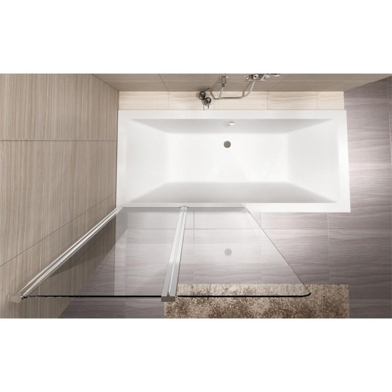 Badscherm 2 Delig.Badscherm 100x140 Cm 2 Delig Bg Agat Inklapbaar