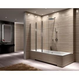 Badscherm 120x140 cm 3-delig BG Agat inklapbaar