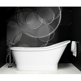 Vrijstaand bad BG-22 afm. 160x68 cm met afvoer click clack