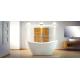 Vrijstaand bad BG-49 wit afm. 160x70 cm met afvoer click clack chroom