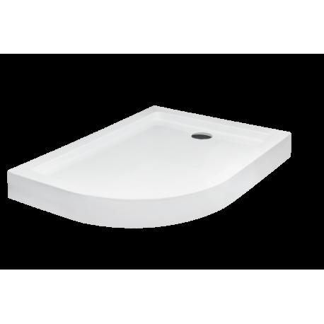 Douchebak 80x100x15 cm asymmetrisch Rechts BG-36