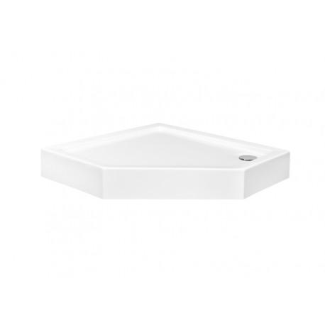 Douchebak vijfhoek 90x90x16 cm wit acryl BG-98
