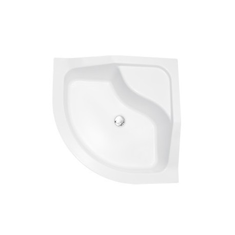 Douchebak 80x80x31,5 cm kwartrond BG-99 acryl wit