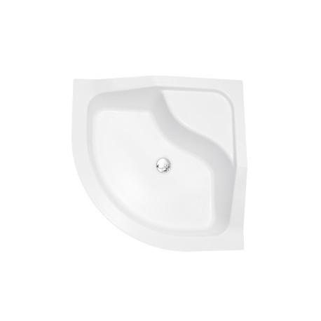 Douchebak 90x90x31,5 cm kwartrond BG-99 acryl wit
