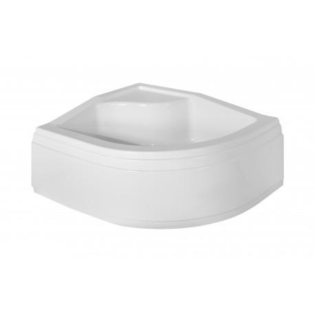 Voorpaneel voor douchebak BG-107 Rechts acryl wit 85x120x38,5 cm