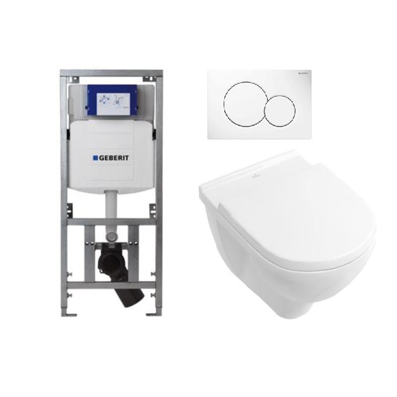 Toilet Villeroy En Boch.Toiletset Wc Element Geberit M Wc Pot Villeroy Boch O Novo