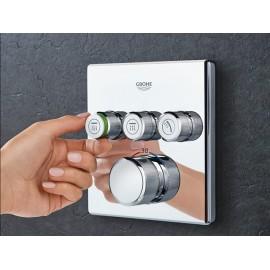 Grohe SmartControl afbouwdeel voor inbouwkraan thermostatisch met omstel voor 3 functies vierkant chroom 29126000