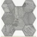 Vloertegels Vesta mix grijs 45x45 cm KB