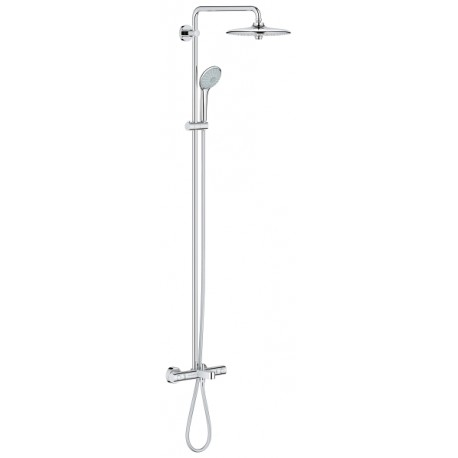 Bad doucheset Grohe Euphoria douchesysteem thermostatisch met hoofddouche 260 mm en handdouche Massage chroom 27475001