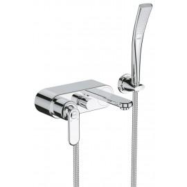 Grohe Veris badkraan met Easy-fix systeem met douchegarnituur chroom 32196000