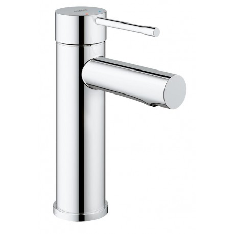Grohe Essence New 1-gats wastafelkraan S-size m. waste m. 28mm ES cartouche (koude start) chroom 23379001