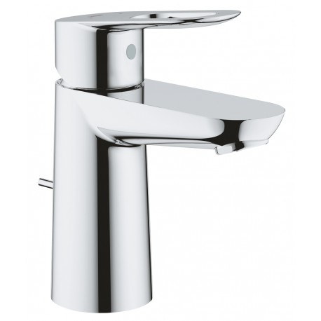 Grohe Bau Loop wastafelkraan met waste met open greep chroom 23335000
