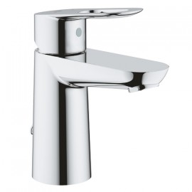 Grohe Bau Loop wastafelkraan met ketting met open greep chroom 23336000