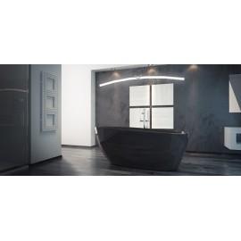 Vrijstaand bad BG-48 zwart 142x62 cm met afvoer click clack chroom